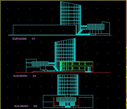 پلان برج تجاری