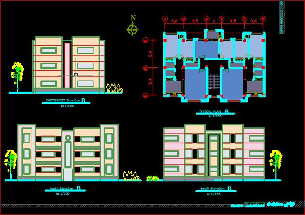 دانلود رایگان پلان مسکونی 3 طبقه