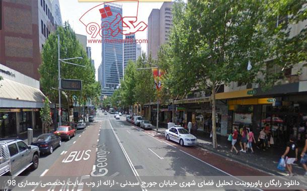 دانلود رایگان پاورپوینت تحلیل خیابان جورج سیدنی استرالیا