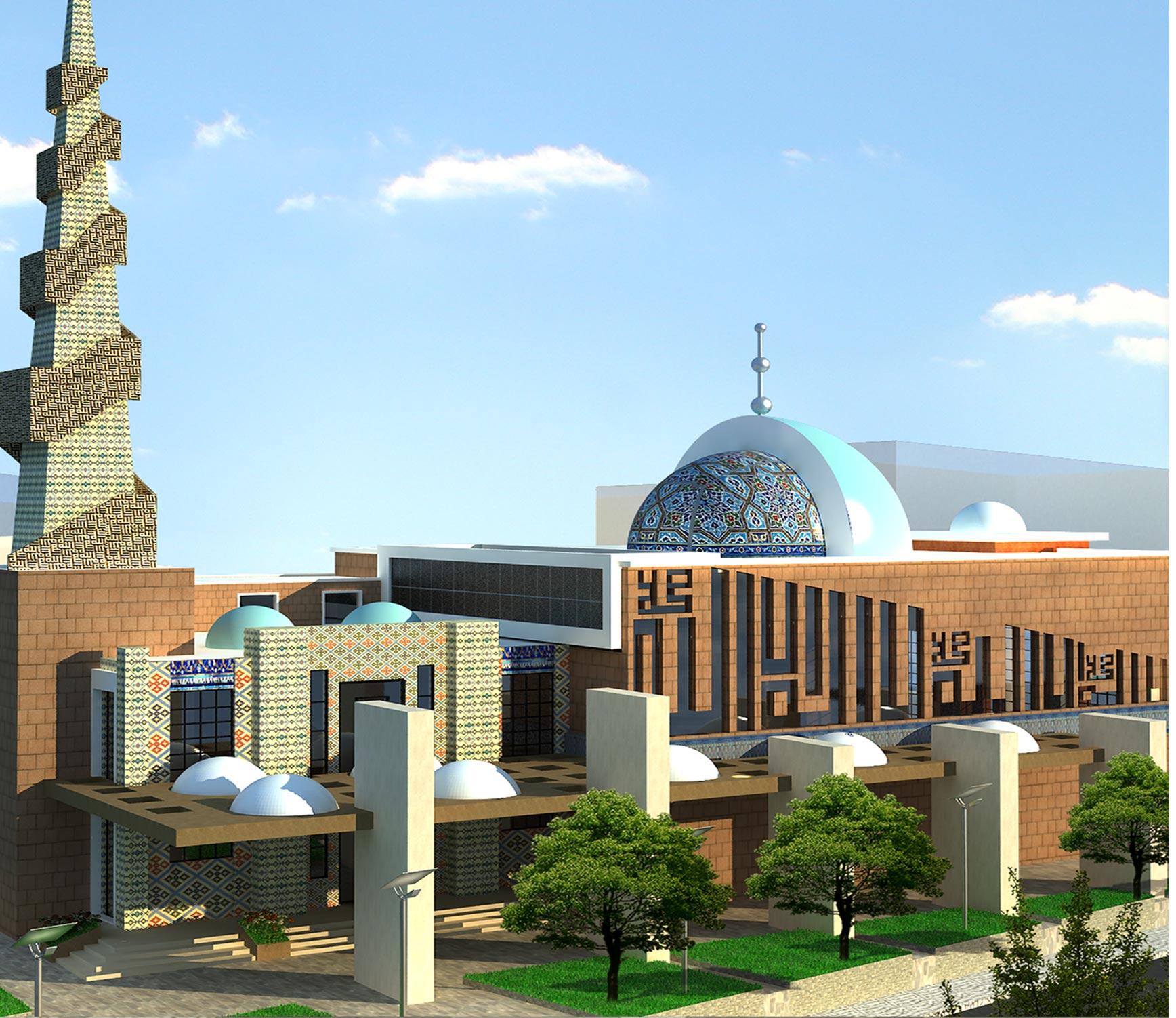 کاملترین پلان مسجد