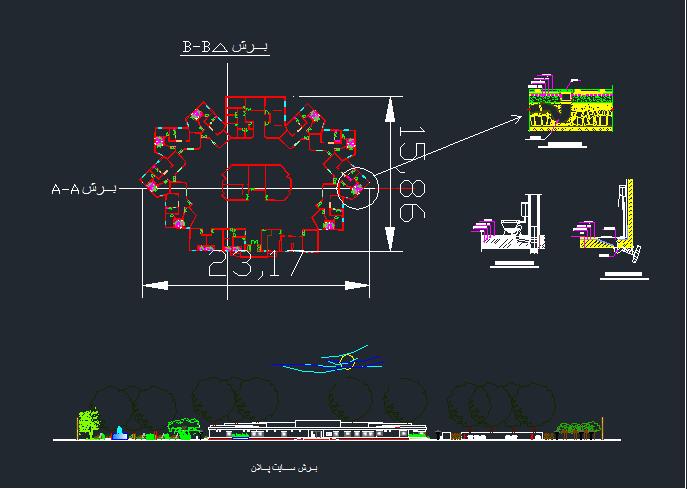 رساله طراحی معماری خانه سالمندان + نقشه های اتوکدی
