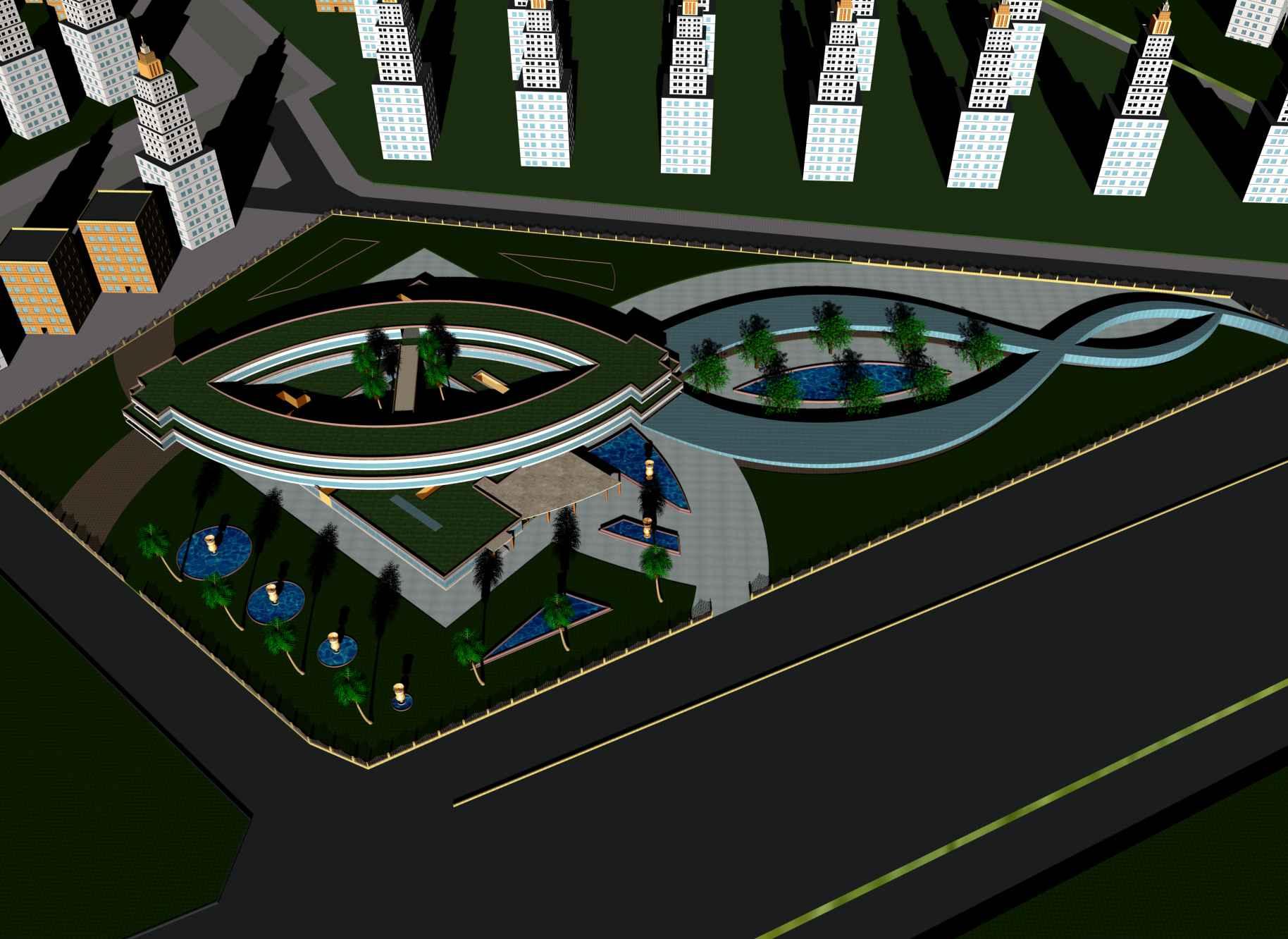 پلان بیمارستان طرح 4 ( اتوکد - رندر - عکس ماکت )
