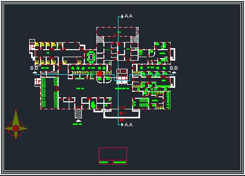 پلان بیمارستان با سه بعدی