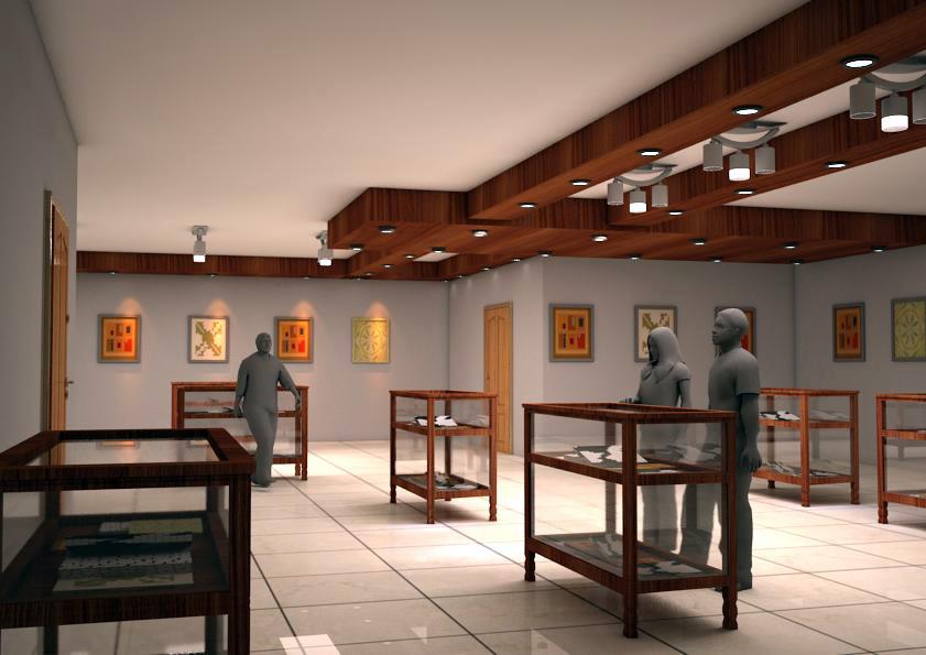 رساله موزه آثار خطی و ادب پارسی ( اتوکد - رندر - پوستر - رساله - حجم اولیه )
