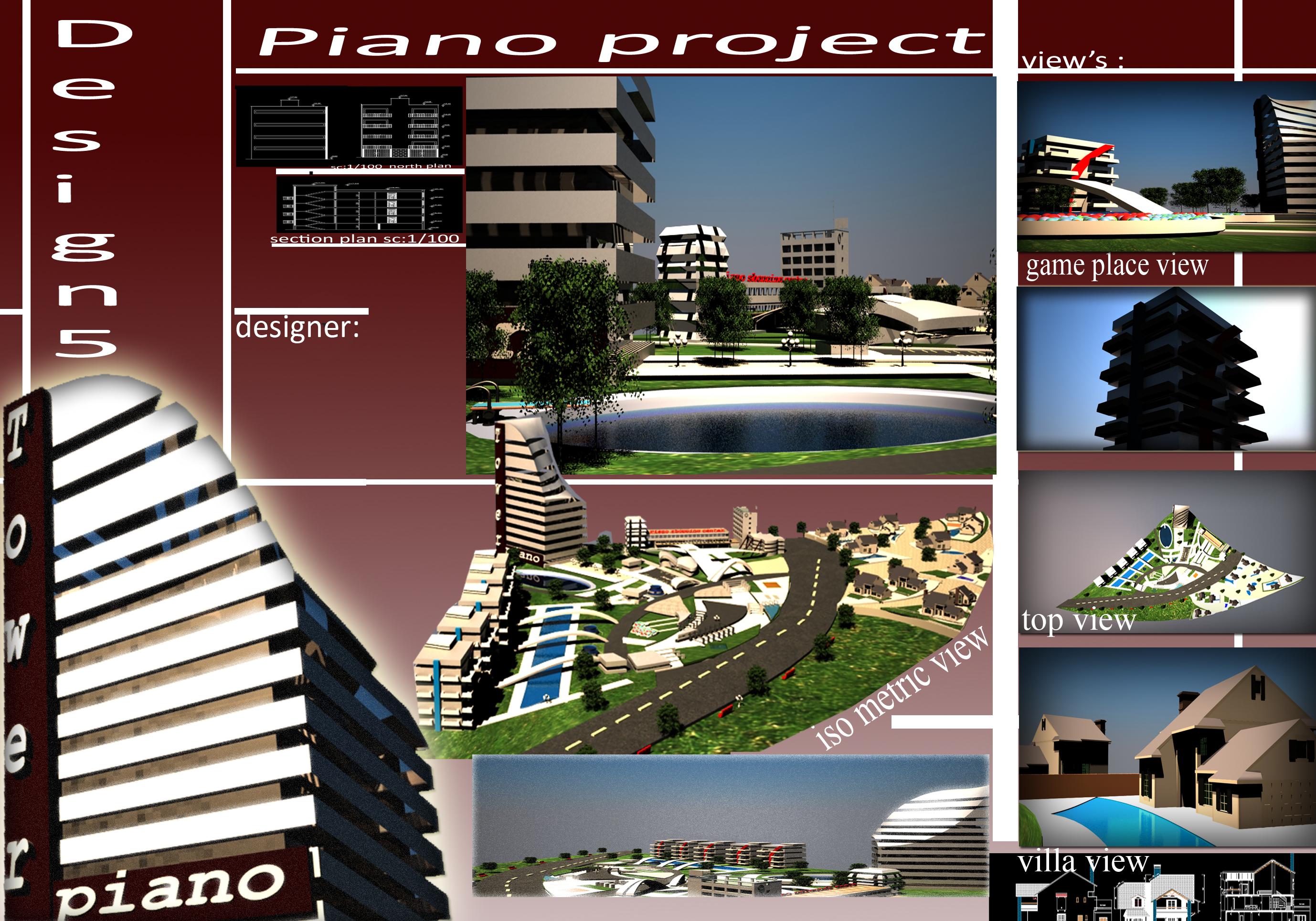 پروژه مجتمع مسکونی ( اتوکد - رندر - پوستر - تری دی مکس - رساله )