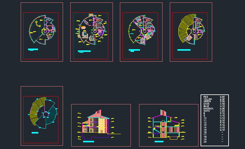 پلان مجتمع مسکونی ( اتوکد - پوستر - رساله )