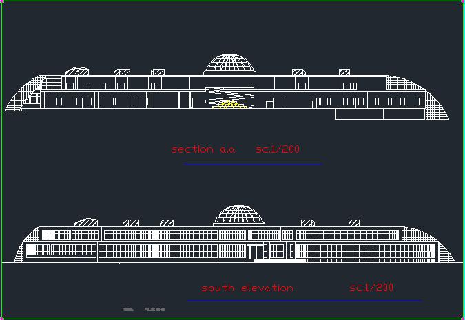 پلان کامل موزه ( اتوکد - رندر - تری دی مکس - اسکچاپ )