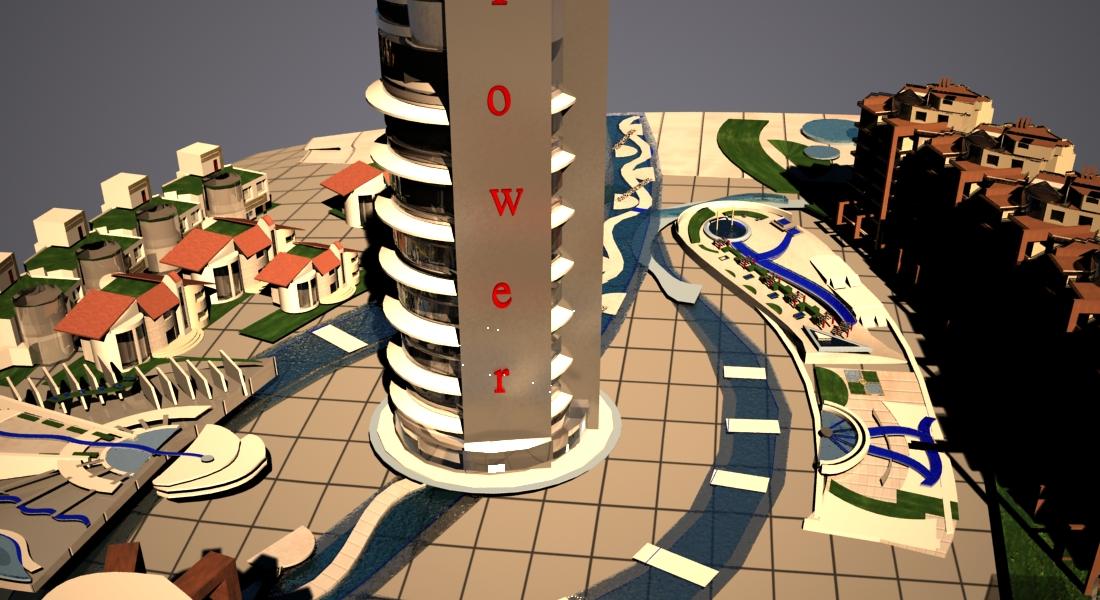 پروژه مجتمع مسکونی ( اتوکد - تری دی مکس - رندر - پوستر - psd - رساله )