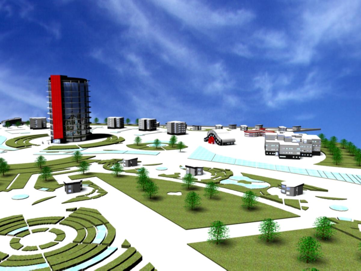 طرح مجتمع مسکونی ( اتوکد - پوستر - رندر - رساله )