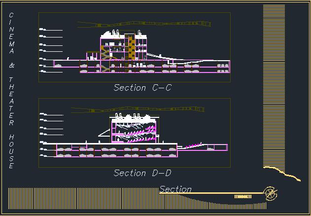 رساله طراحی خانه سینما و تئاتر همراه با نقشه ها
