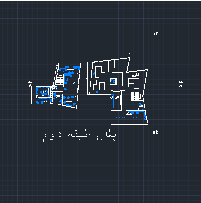 نقشه فرهنگسرا ( اتوکد - رندر - حجم سه بعدی )
