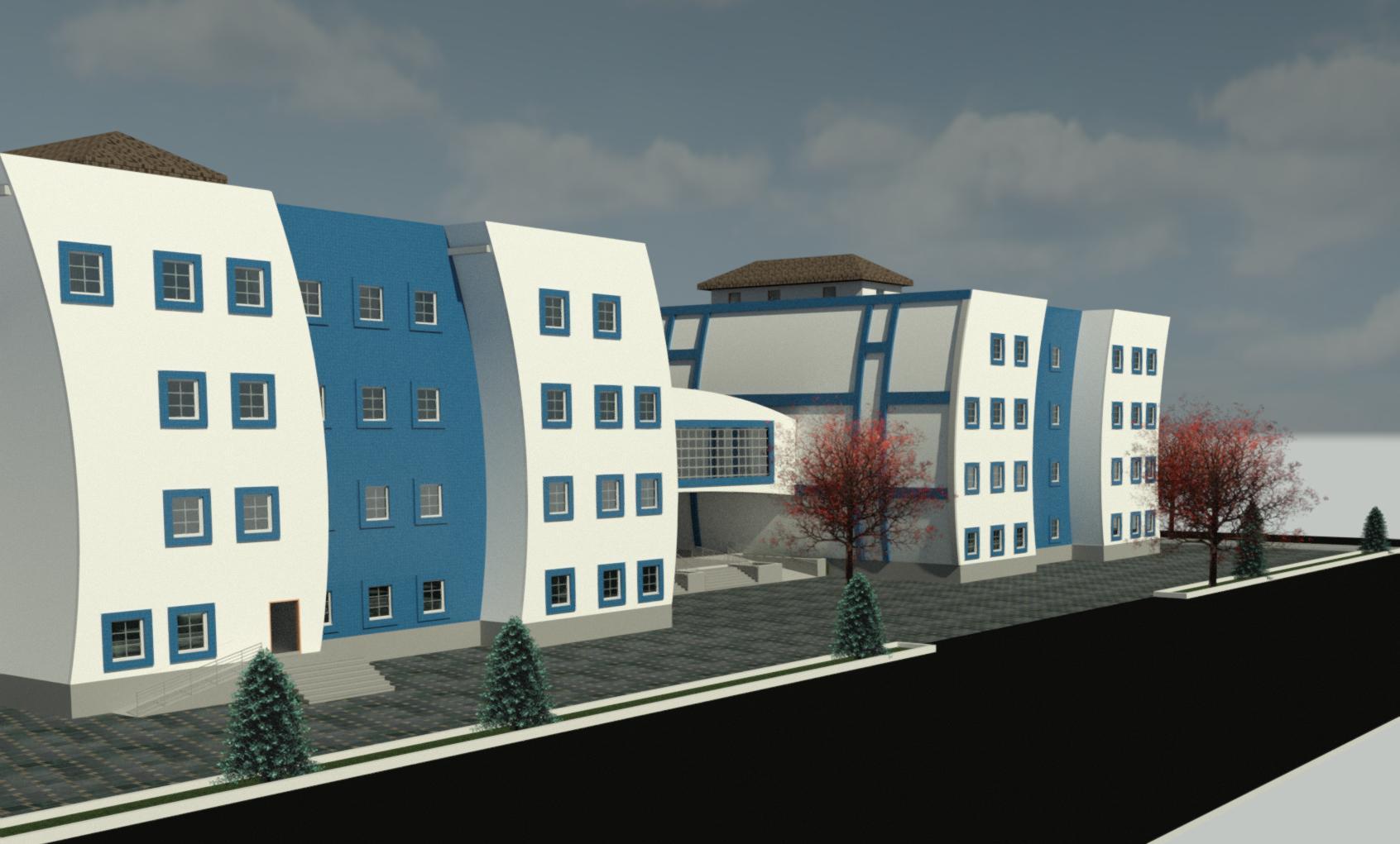 پلان کامل بیمارستان ( اتوکد - رندر - رویت )
