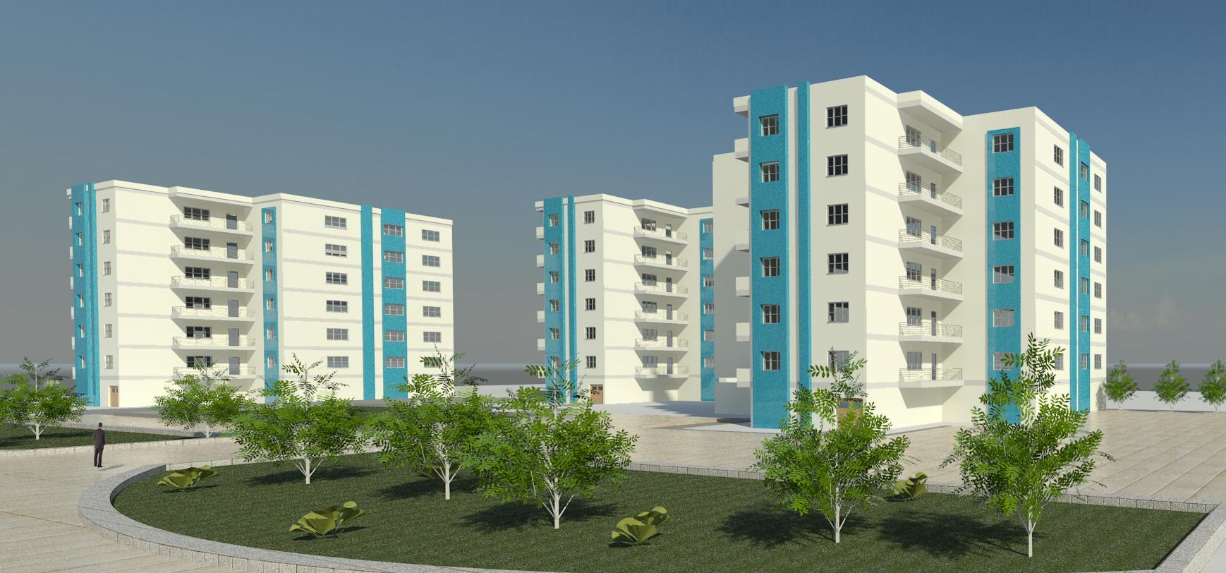 طرح مجتمع مسکونی ( اتوکد - رندر - شیت بندی - psd )