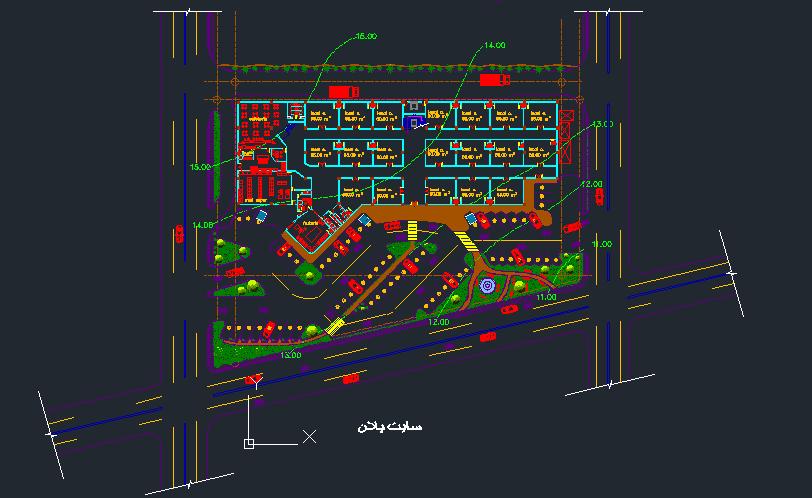 پلان کامل مرکز خرید ( اتوکد - رندر )