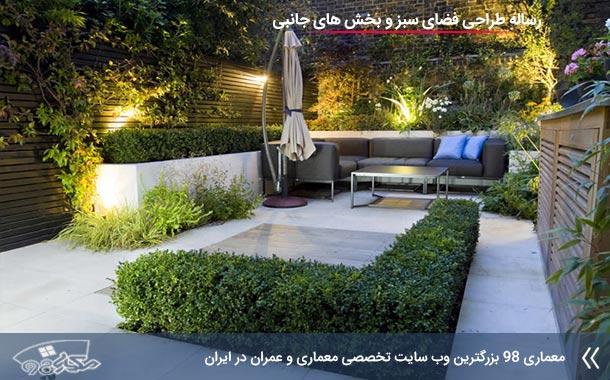 مطالعات طراحی فضای سبز و بخش های جانبی ( باغ و پردیس )