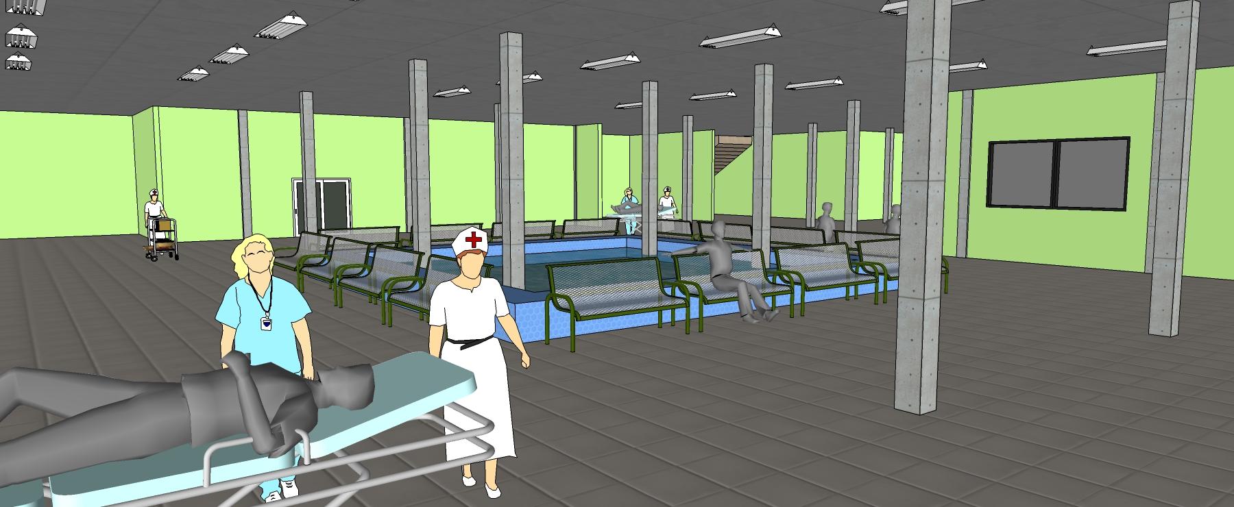 پلان بیمارستان 4 طبقه