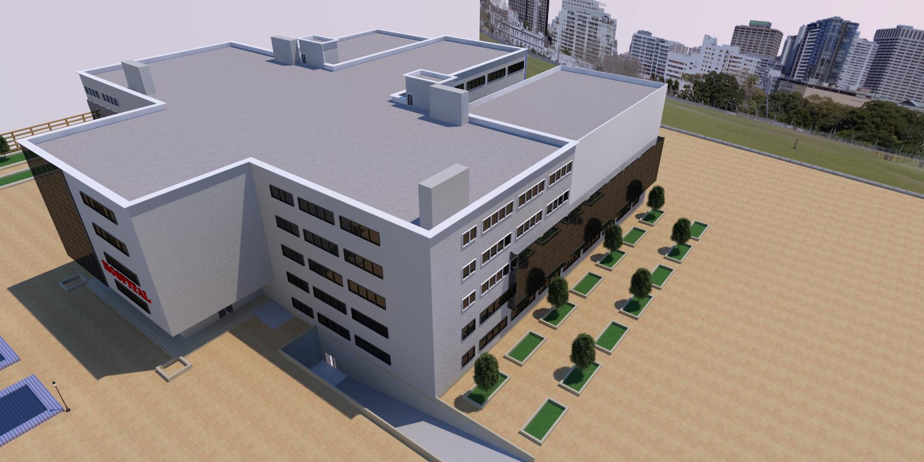 نقشه بیمارستان 4 طبقه