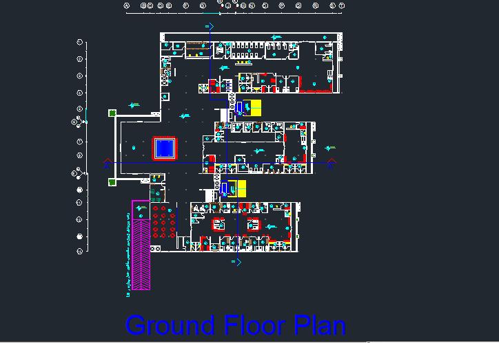 طرح بیمارستان 4 طبقه