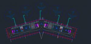 پلان اتوکد فرودگاه