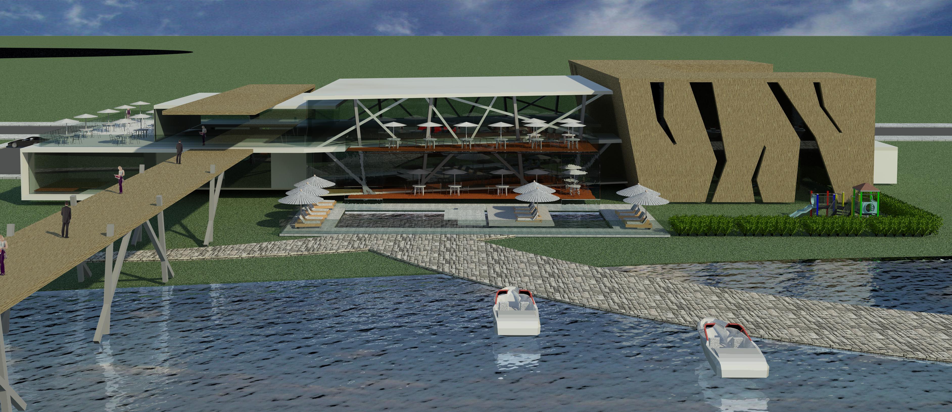 طرح کامل رستوران ساحلی