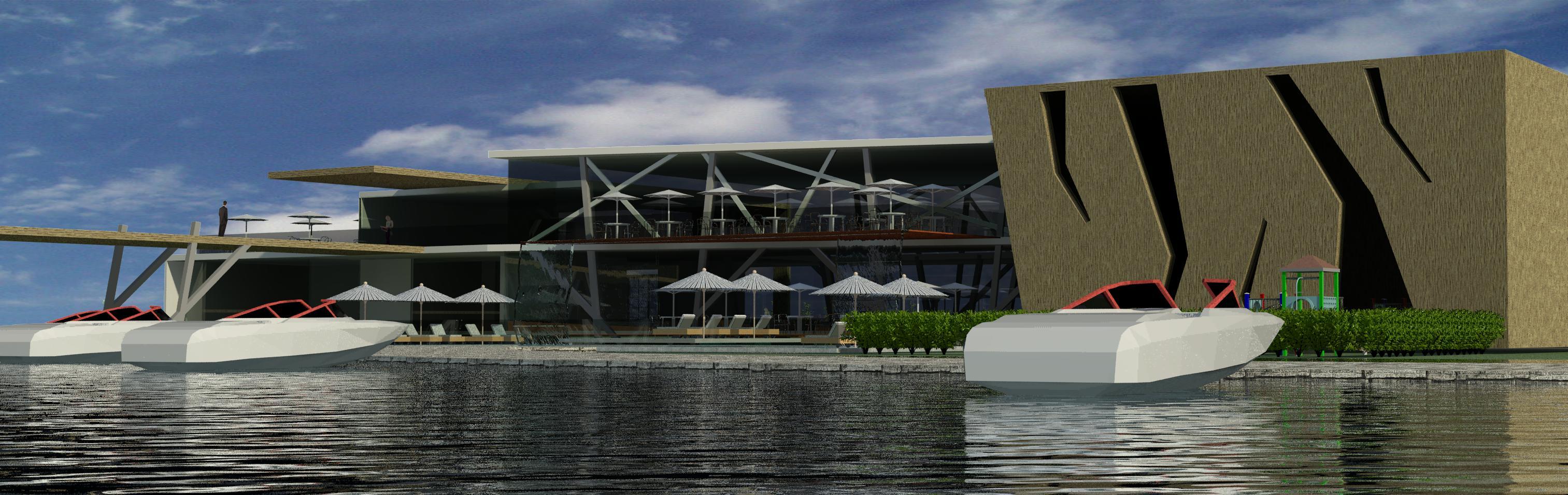 پلان معماری رستوران ساحلی
