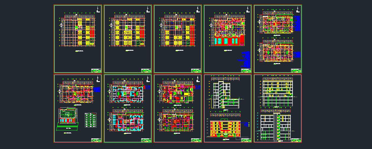 مجموعه نقشه بیمارستان