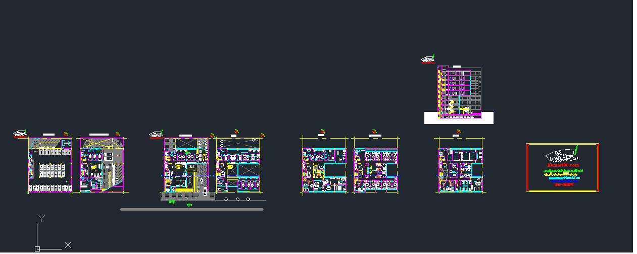 پکیج نقشه کامل بیمارستان
