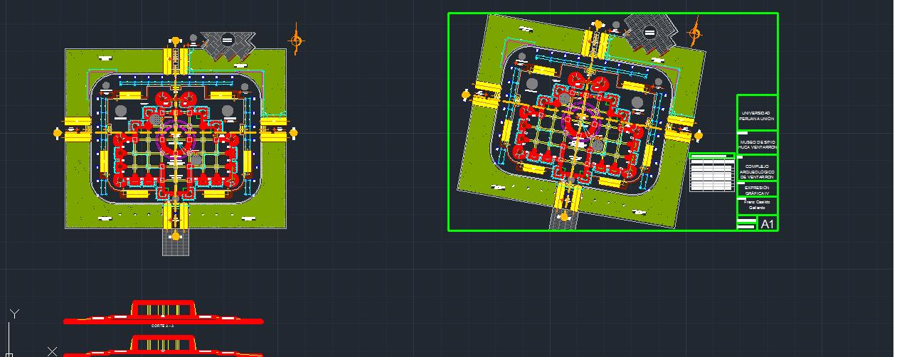 نقشه اتوکدی موزه