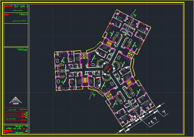 پلان مسکونی طرح 5