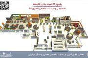 25 نمونه پلان کتابخانه ( سایت پلان , پلان , نما , برش , پرسپکتیو و ... )