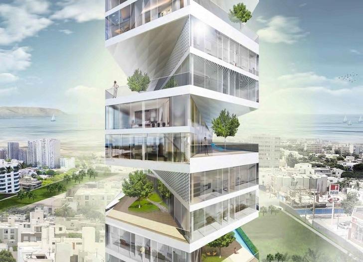 رساله طراحی برج باغ مسکونی
