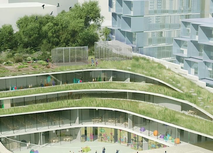 رساله ارشد طراحی باغ مدرسه با رویکرد بازخوانی معماری سنتی ایرانی