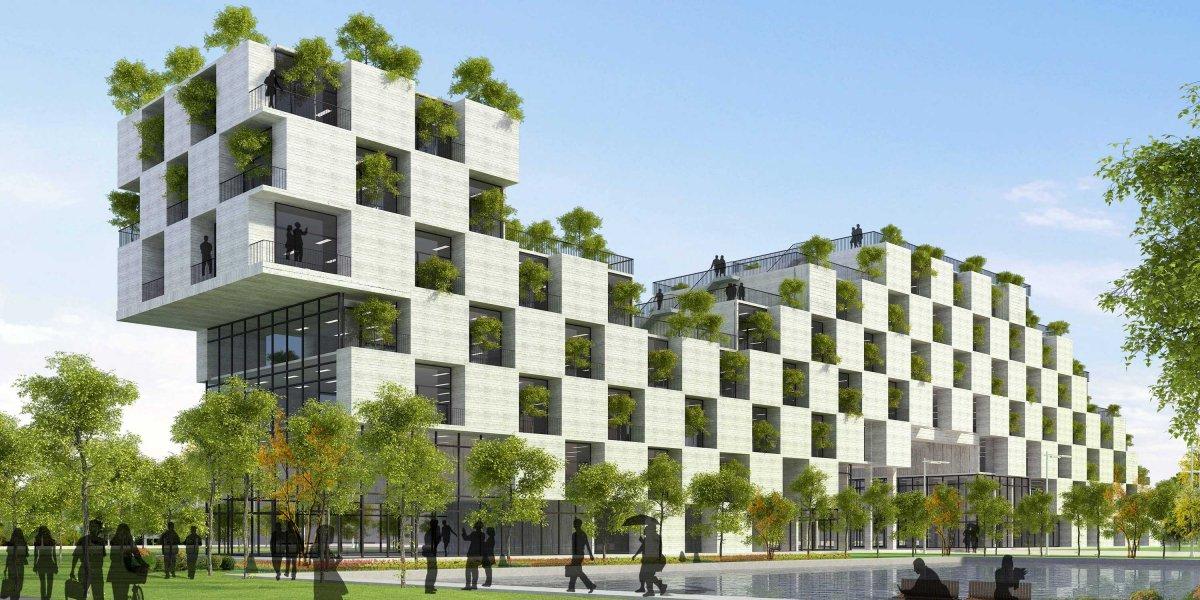 مجتمع تجاری با رویکرد معماری سبز
