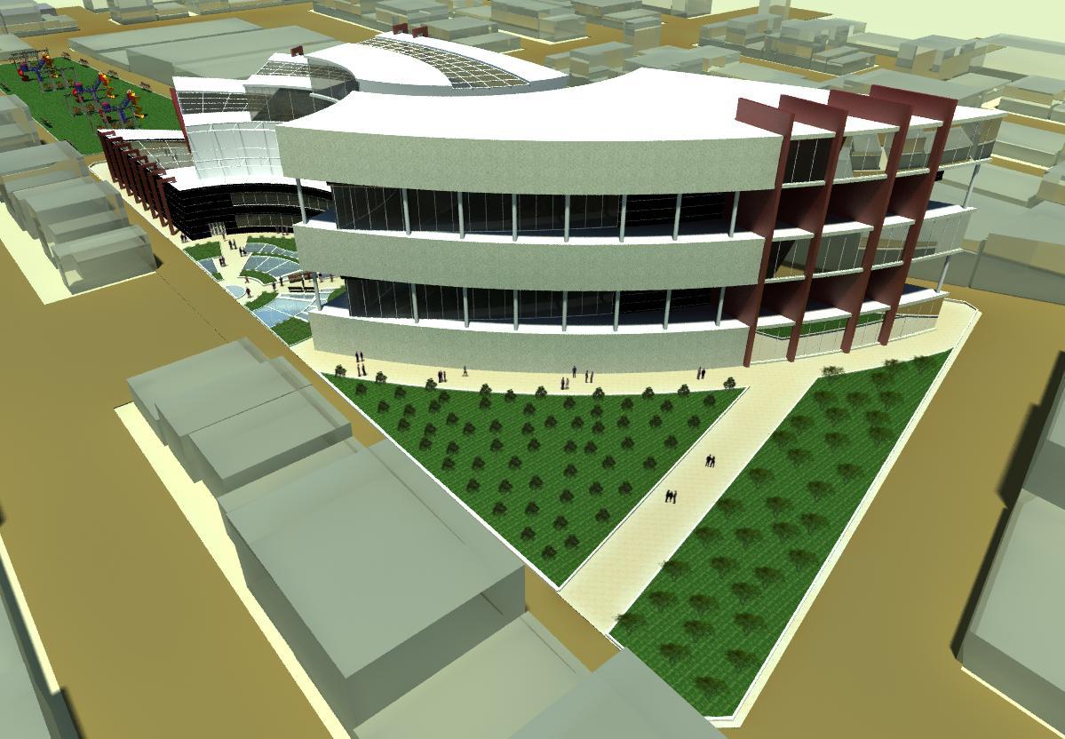 طرح مرکز تجاری اداری