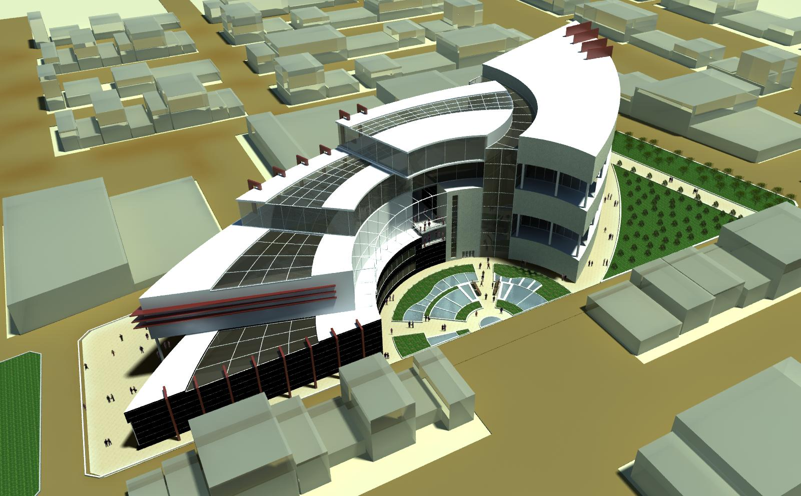 طرح کامل مرکز تجاری اداری