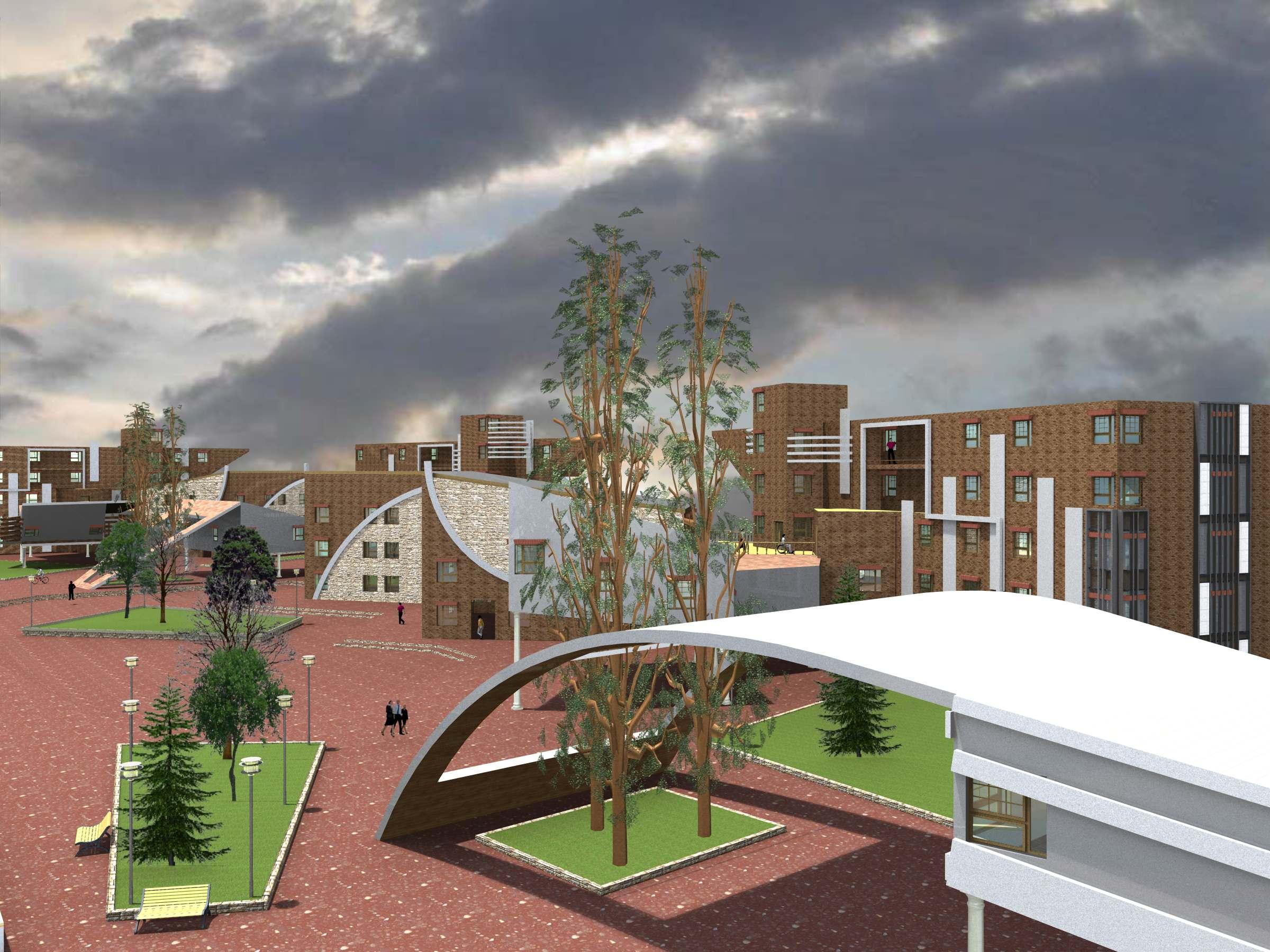 طرح مجتمع مسکونی طرح 5