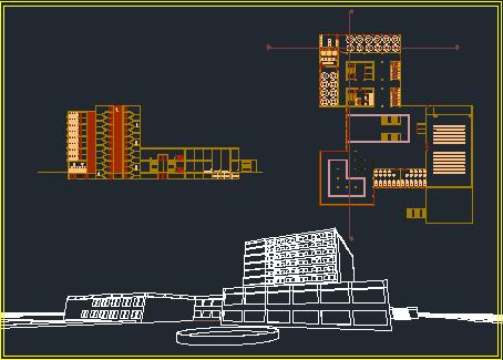 پکیج نقشه های کامل هتل
