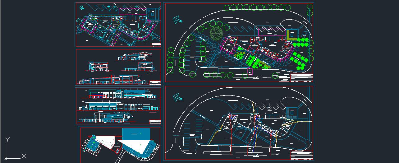 مجموعه نقشه کامل ترمینال مسافربری