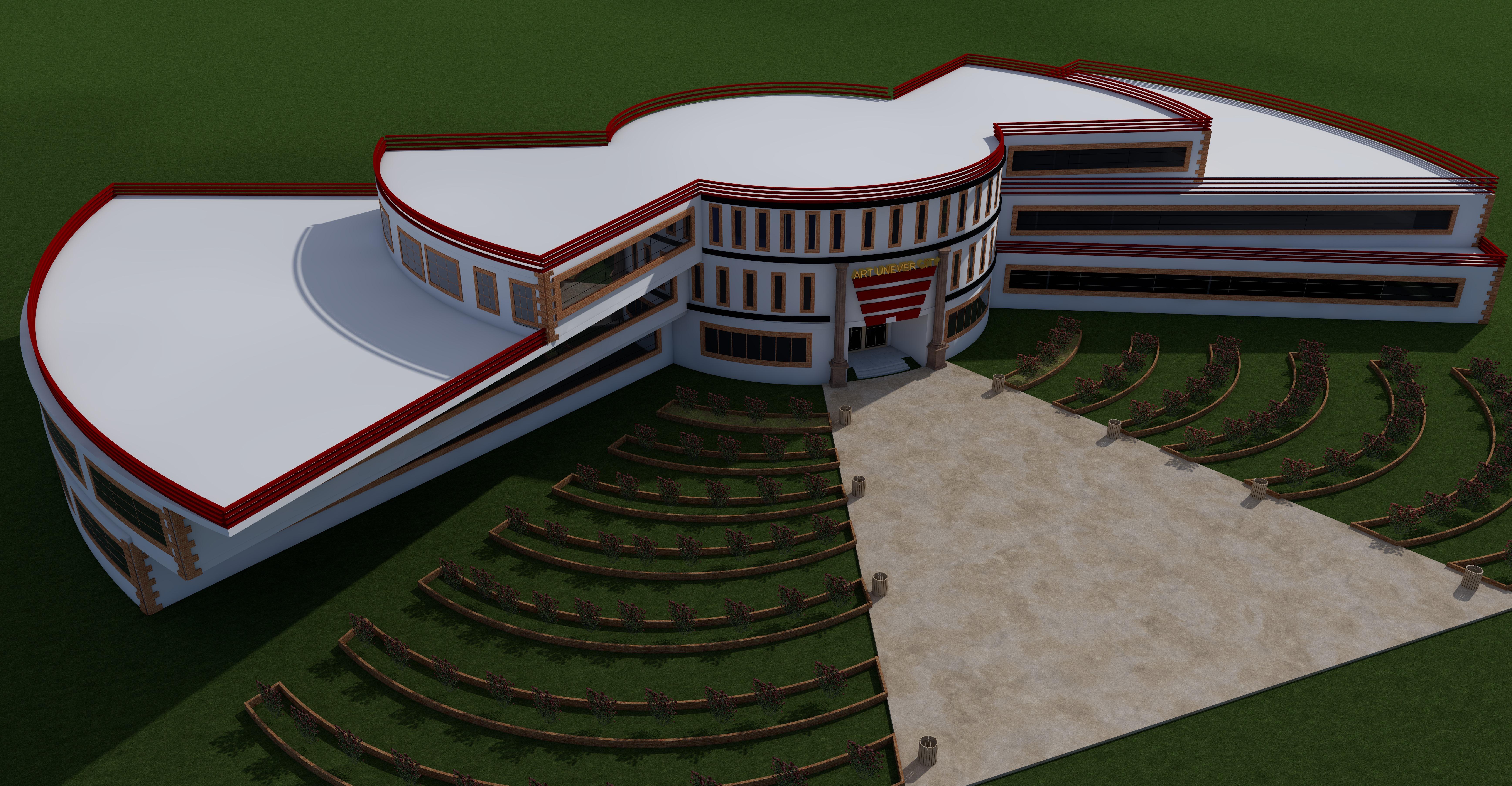 پلان کامل دانشکده هنر