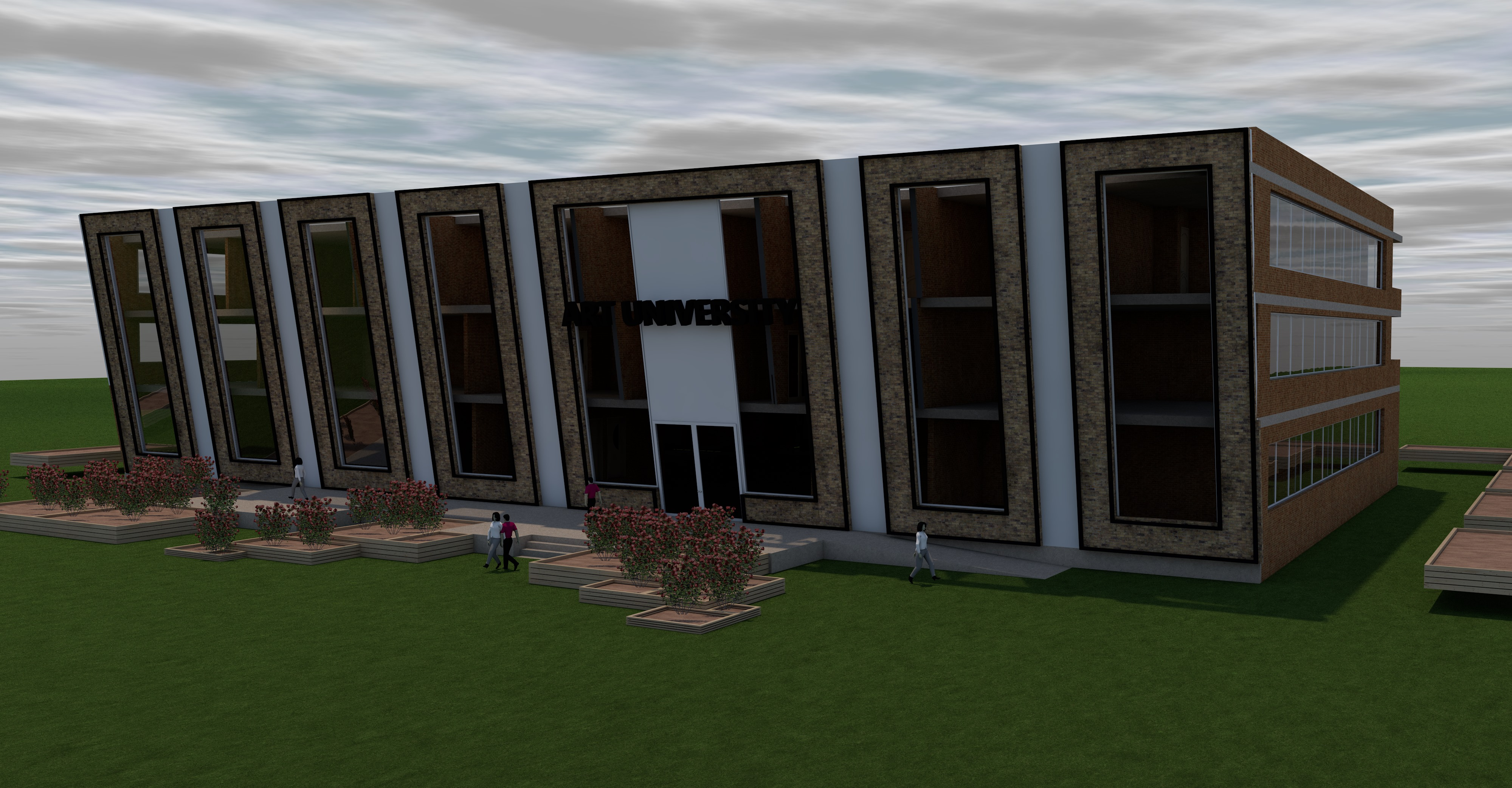 Architectural project of the Faculty of Arts (2)