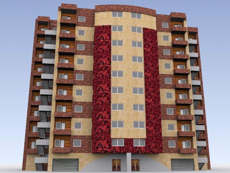 پروژه مجتمع مسکونی طرح 5 معماری کامل