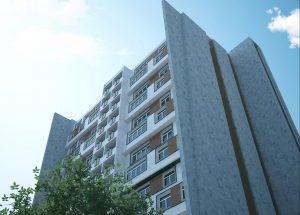 پروژه مجتمع 14 طبقه کامل