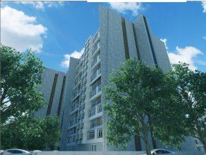 پروژه مجتمع مسکونی 14 طبقه