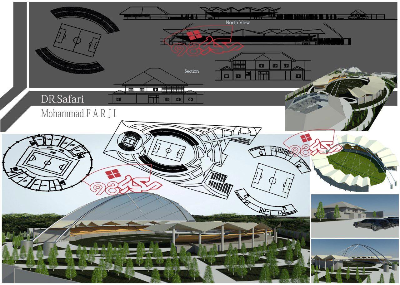 پروژه استادیوم ورزشی با جزئیات کامل