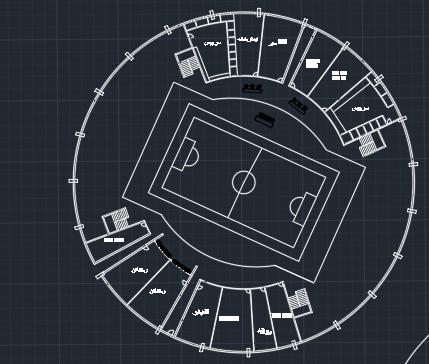 پروژه استادیوم ورزشی با تمامی جزئیات