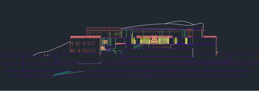طرح مرکز فرهنگی با جزئیات کامل