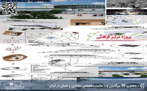 پروژه کامل طراحی مرکز فرهنگی