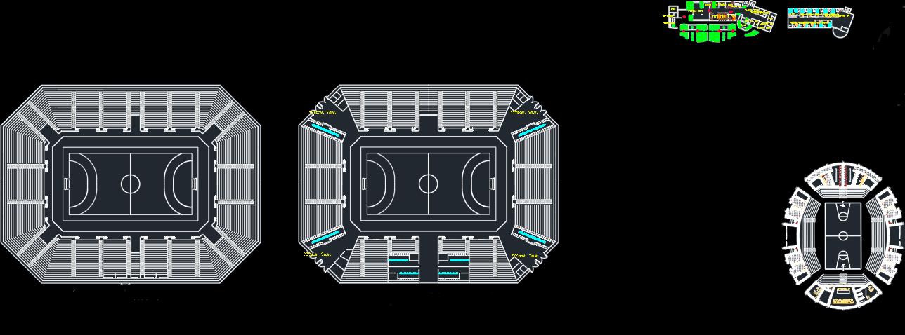 پلان کامل استادیوم فوتبال