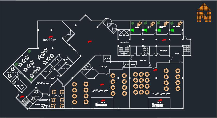 نقشه کامل هتل با جزئیات