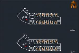 نقشه کامل هتل با جزئیات کامل